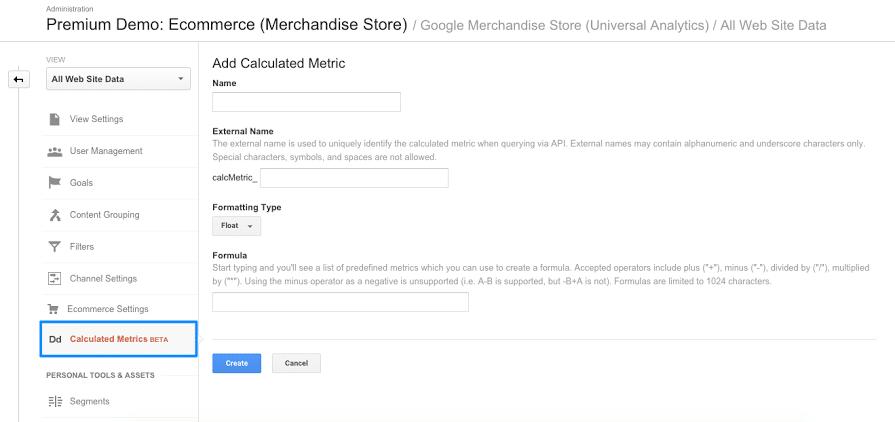 Les variables calculées, nouvel outil dans Google Analytics