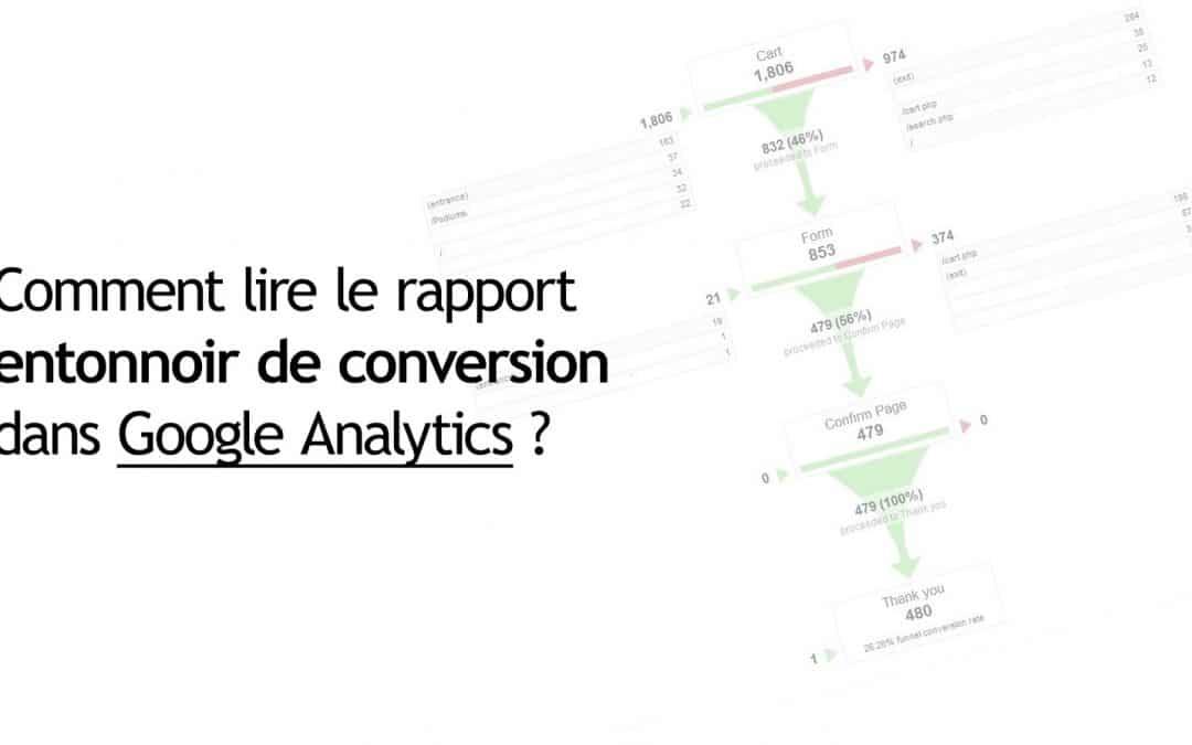 Comment lire le rapport entonnoir de conversion dans Google Analytics ?