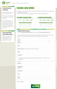 campagnes de dons personnalisée sur le site Oxfam