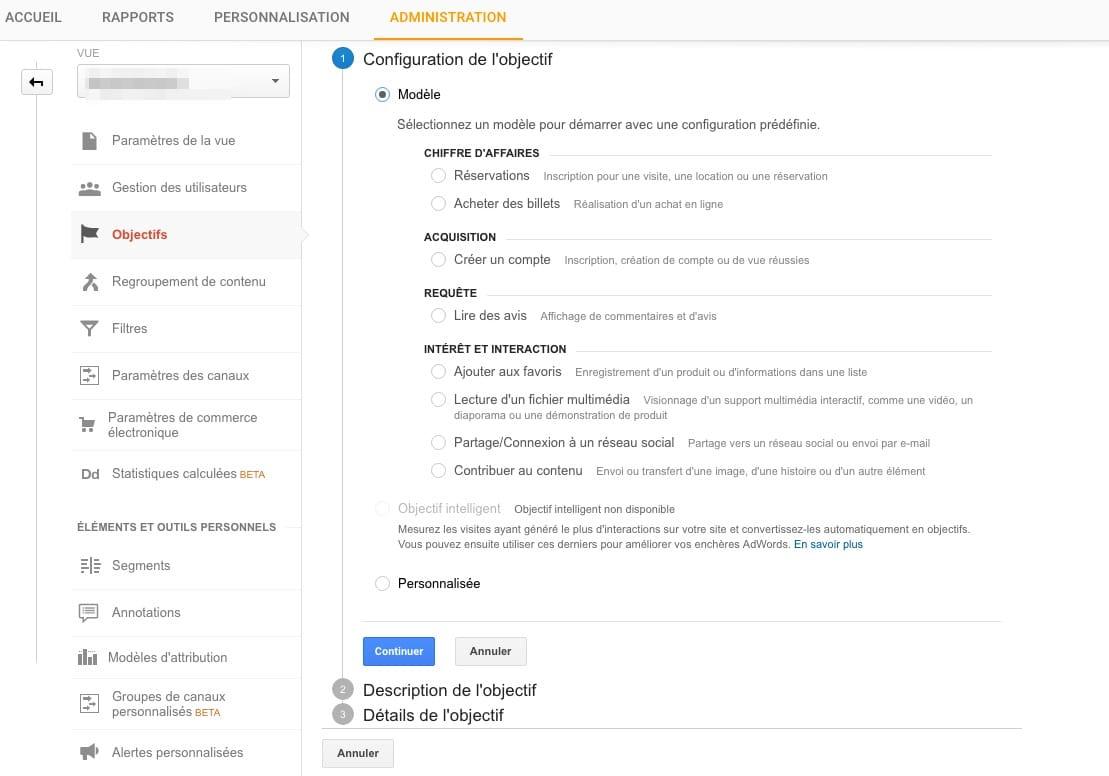 taux de conversion Google Analytics