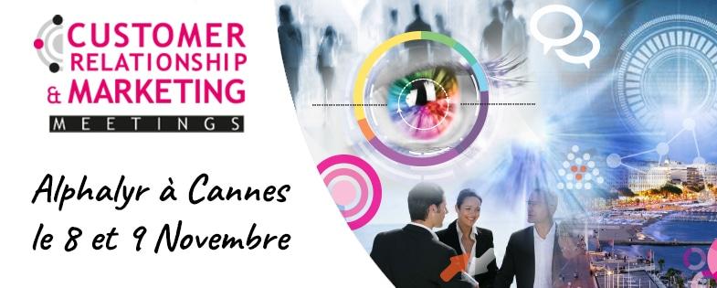 Retrouvez nous le 8 et 9 Novembre au Customer Relationship & marketing Meetings à Cannes